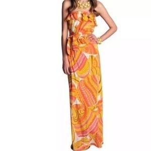 Trina Turk Banana Republic silk maxi dress 6